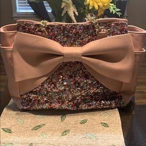 Betsey Johnson Blingy Pink Handbag